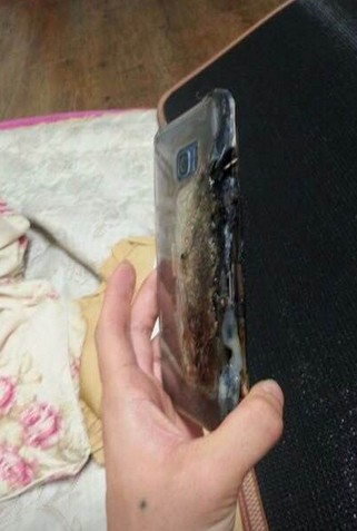 Burned Galaxy Note 2