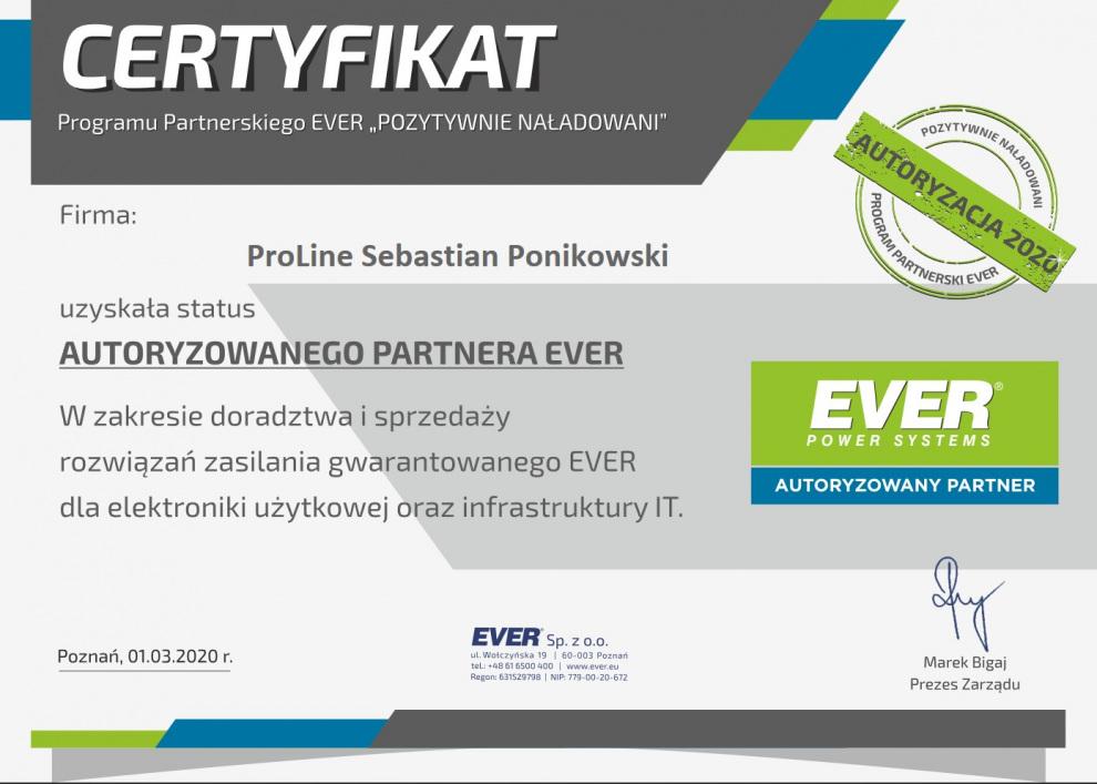 ProLine autoryzowanym partnerem EVER 2020