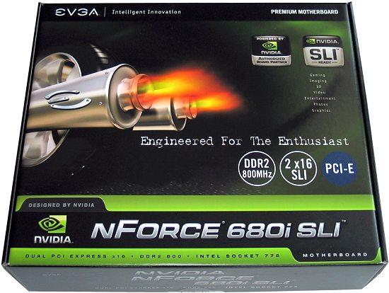 EVGA Nvidia nForce 680i - pudełko