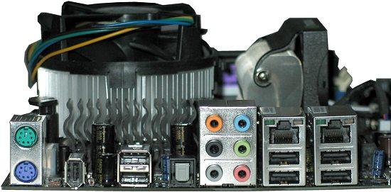 EVGA Nvidia nForce 680i - złącza