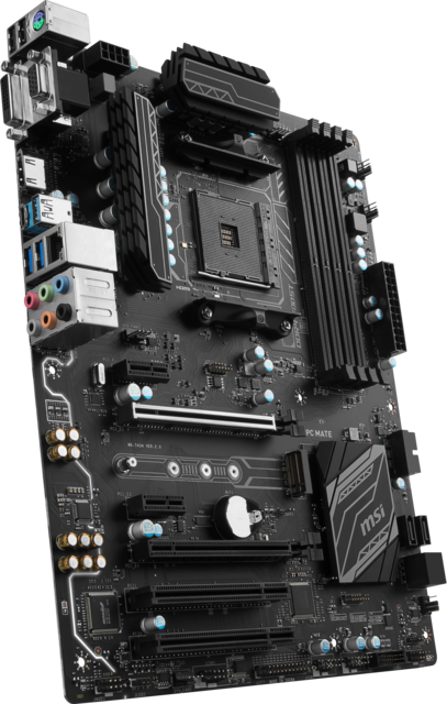 Msi B350 Pc Mate Product Pictures 3d3