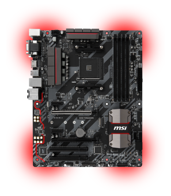 Msi B350 Tomahawk Product Pictures 2d