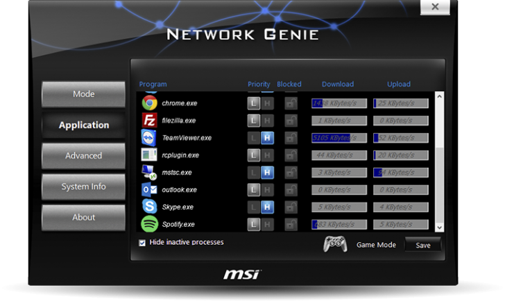 Msi H110 Network Screenshot