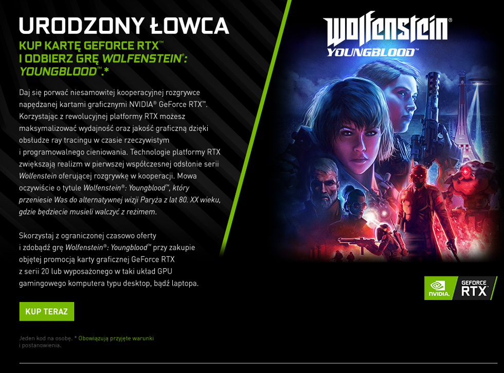 V11000050 Geforce Wolfenstein Yb Partner Lp Black V1 Pl