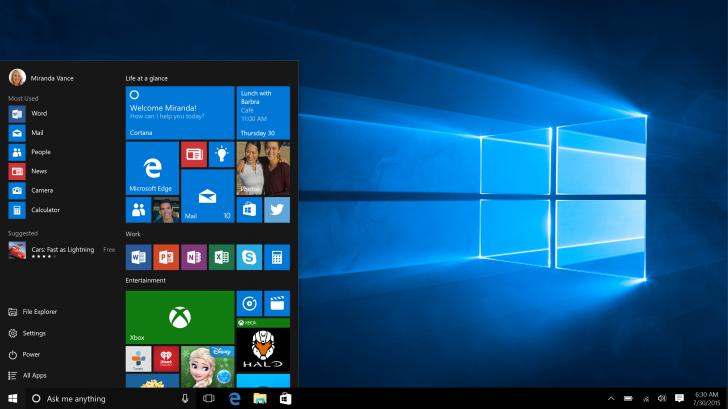 Windo Windows Tenn Screen