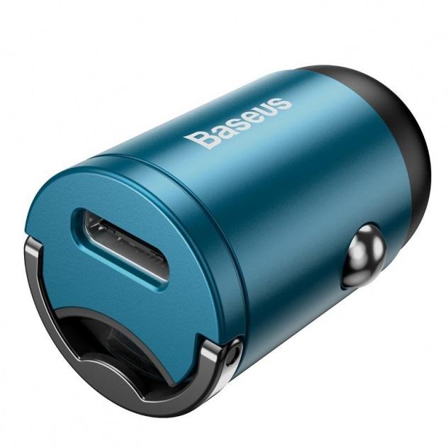 Mini ładowarka samochodowa Baseus Tiny Star TYP C, QC 4.0+, PD, 30W (niebieska) (VCHX B03)